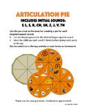 Articulation Pie : Initial sounds: f, l, s, r, ch, sh, z,