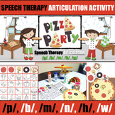 Articulation Pizza Party: p, b, m, n, h, w