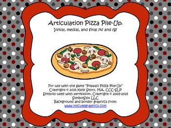 Articulation Pizza Pile Up: /k/ and /g/
