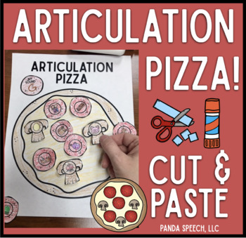 Articulation Pizza! Speech Therapy Craft Activity