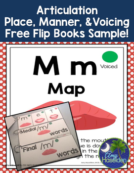 Articulation Place Manner Voicing Free Sample /m/
