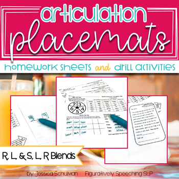 Artic Placemats: Homework and Drill Activities Bundle 2 #jan2018slpmusthave