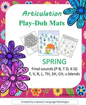 Articulation Play Doh Mats - SPRING (BPTDKG, R L TH SH CH S-blends)