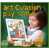 Articulation Play Scenes for Final Stops with Carrier Phrases BOOM Cards™