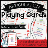 Articulation Playing Cards: A Standard Card Deck for R, S, L, TH, SH, and CH
