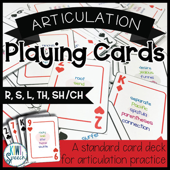 Articulation Playing Cards: A Standard Card Deck for R, S,