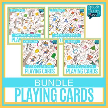 Articulation Playing Cards - Bundle 14 Sounds