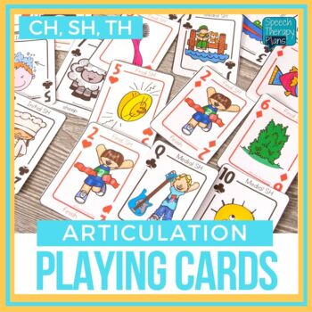 Articulation Playing Cards - Set 3 (CH, SH, TH)