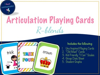 Articulation Playing Cards for R-Blends