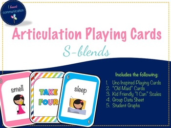 Articulation Playing Cards for S-Blends