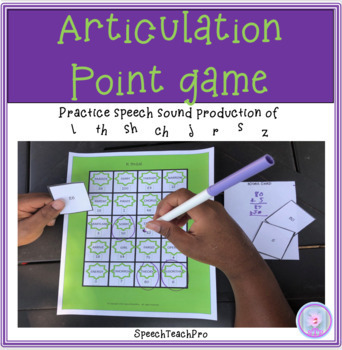 Articulation Point Game for Speech Therapy