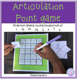 Distance Learning Articulation Point Game for Speech Therapy
