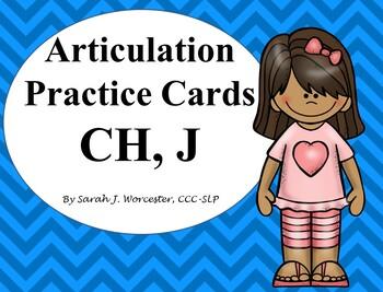 Articulation Practice Card /CH, J/