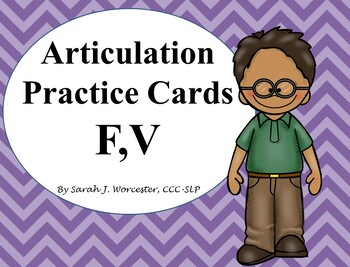 Articulation Practice Card /F,V/