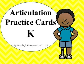 Articulation Practice Card /K/