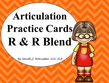 Articulation Practice Card /R/ and /R/ Blend