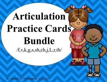 Articulation Practice Cards Bundle