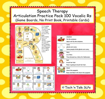 Articulation Practice Pack 100 Vocalic Rs