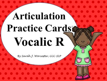 Articulation Practice Card Vocalic /R/