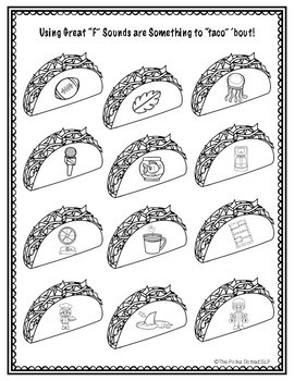 Articulation Practice :  Tacos for any day of the week!