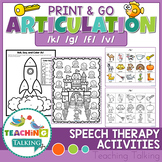 Articulation Activities Print & Go - K,G,F,V