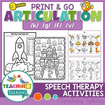 Articulation Print & Go - K,G,F,V