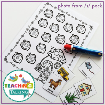 Articulation Activities Print & Go - P,B,T,D,M,N,H,W