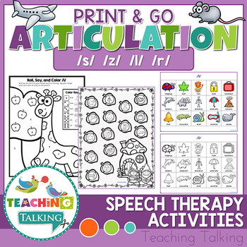Articulation Print & Go - S, Z, R & L