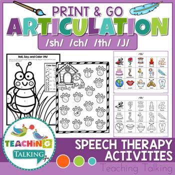 Articulation Print & Go - SH, CH, TH, J
