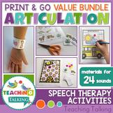 Articulation Print & Go Worksheets