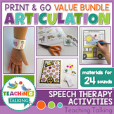 No Prep Articulation Activities, Games & Worksheets Bundle