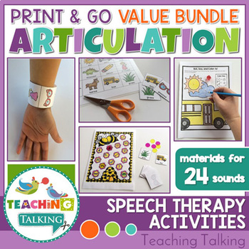 No Prep Articulation Activities, Games & Worksheets Bundle by ...