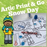 Articulation Print and Go: Snow Day Game