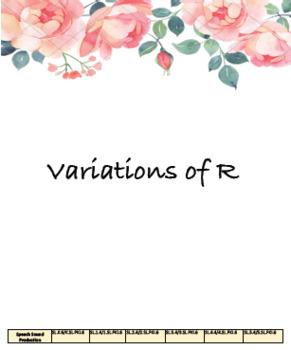 Articulation Progress Monitoring BUNDLE: Prevocalic R, R, Blends, Vocalic R