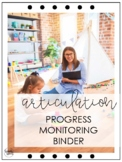 Articulation Progress Monitoring Binder
