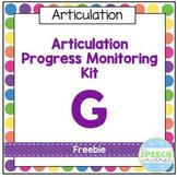 Articulation Progress Monitoring Kit: Freebie