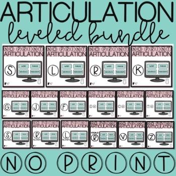 #mar21slpsgodigital Articulation Progress Monitoring NO PRINT Growing Bundle