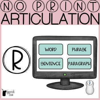 Articulation Progress Monitoring-/R/ NO PRINT
