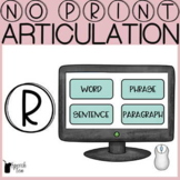 R Articulation No Print Progress Monitoring