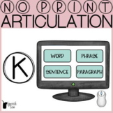 K Articulation No Print Progress Monitoring Tool