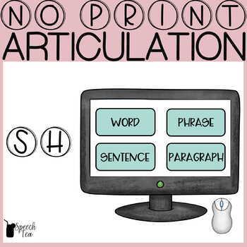 "Articulation Progress Monitoring Tool- ""SH"" NO PRINT"
