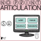 SH Articulation Progress Monitoring Tool-NO PRINT | SH Art