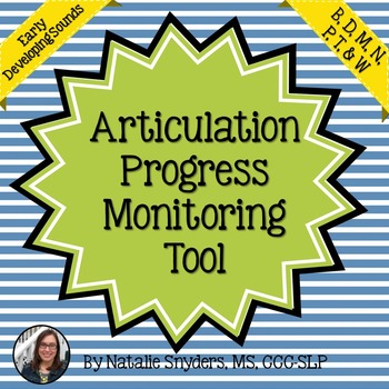 Articulation Progress Monitoring Tool for SLPs - Early Developing Sounds
