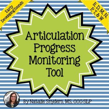 Articulation Progress Monitoring Tool for SLPs - Early Dev