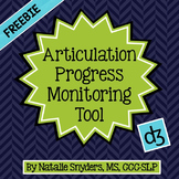 Articulation Progress Monitoring Tool for Speech Language Therapy - Free Add-On