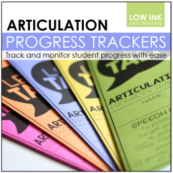 Articulation Progress Trackers   Articulation Data Collection