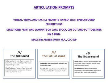 Articulation Prompts