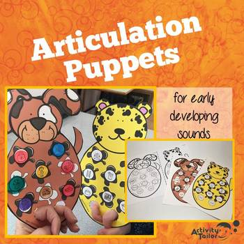 Articulation Puppet Craft for Early Developing Sounds
