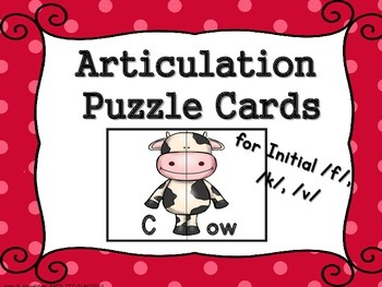 Articulation Puzzle Cards Initial K G V