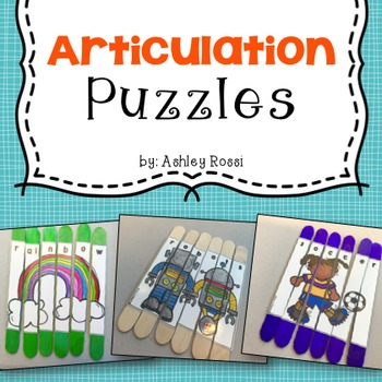 Articulation Puzzles For (R, R Blends, Vocalic R)